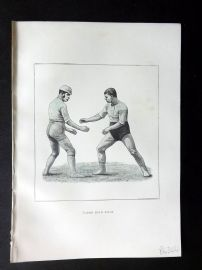 Badminton Library 1889 Wrestling Print. Catch Hold Style